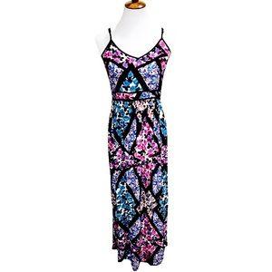 TopShop Abstract Floral Print Long Maxi Dress